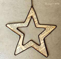 Etoile Plus (Fitness Journal Diy) Christmas Crafts For Kids, Handmade Christmas, Christmas Diy, Wire Crafts, Metal Crafts, Star Diy, Stars Craft, Paper Stars, Wire Art