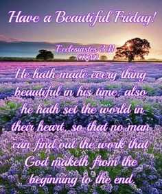 Have a Beautiful Friday,Ecclesiastes Friday Morning Quotes, Happy Friday Quotes, Good Morning Friday, Morning Greetings Quotes, Morning Wish, Good Morning Quotes, Weekend Greetings, Good Night Blessings, Morning Blessings