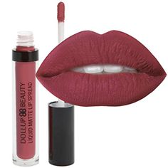 Dollup Beauty Liquid Matte Lipstick Spread with No-Smudge, No-Fade Long Lasting Formula. Choose from 8 glam injected colors. Color 'Goodness' Maroon Red. >>> Be sure to check out this awesome product.
