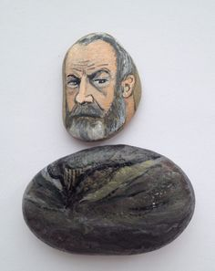 Ser Davos Seaworth fridge magnet, painted on stones