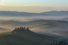 Although the eye will see a scene in its fullest range, the camera allows us to control and express light often revealing the subtle interactions our eyes miss. Seeing The sun feather across the rolling Tuscan hills as the fog made its retreat was a magical moment I continue to see.