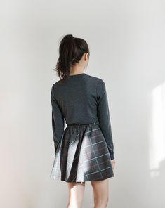 grey, plaid