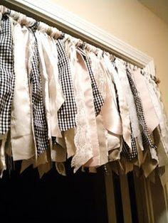 Fabric Scraps & Ribbon Valance: Creative Curtains
