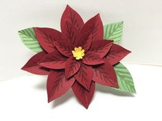 Ophelia Crafts a Poinsettia flower using the Festive Flower Punch
