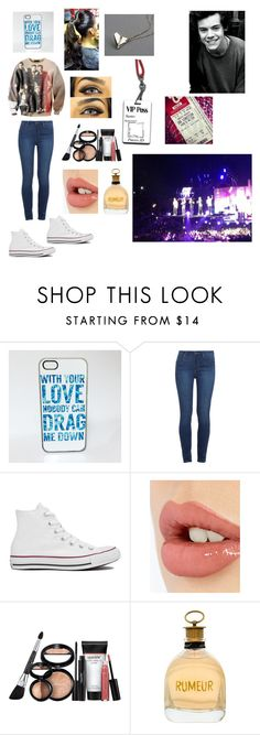 """""""Seeing 1D concert/seeing Harry Styles (vip pass)"""" by nyshaia-whatley ❤ liked on Polyvore featuring Paige Denim, Converse, Charlotte Tilbury, Laura Geller and Lanvin"""