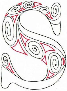 Aztec Alphabet, Creative Doodling with Judy West -- interesting doodle site, lots of stuff  #doodle