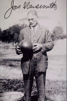 Dr. James Naismith is known world-wide as the inventor of basketball. He was born in 1861 ~ He died in Lawrence, Kansas, in 1939