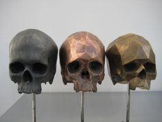 Sculpture work of Brooklyn artist Matthew Day Jackson Memento Mori, Skeleton Bones, Skull And Bones, Crane, Colossal Art, Decoration Inspiration, Decor Ideas, Arte Horror, Human Skull