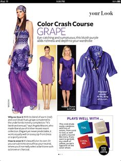 TheDiva Style & Design Guide: Inspired by InStyle Grape Color Crash Course February 2012