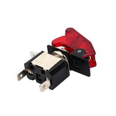 On Off Aircraft Type Car Racing Red LED Toggle Switch Control Flip Cover 12V VEQ25re P12 0.3
