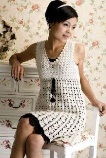 Zélia Crochet: Vestido branco