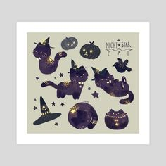Find images and videos about gif, cat and illustration on We Heart It - the app to get lost in what you love. Cute Animal Drawings, Kawaii Drawings, Illustration Inspiration, Illustration Art, Desu Desu, Ghost Cat, Kawaii Art, Cat Drawing, Pretty Art