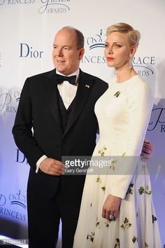 Her Serene Highness Princess Charlene of Monaco and His Serene Highness Prince Albert ll attend the 2016 Princess Grace Awards Gala at Cipriani, Oct 24, 2016