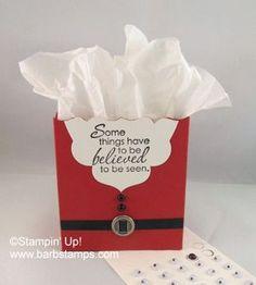 Stampin' Up! Santa Fancy Favor Box Christmas
