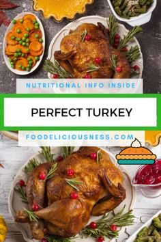 Looking for some  Thanksgiving Main Course, Thanksgiving Recipes, Thanksgiving turkey recipes ? I've got a collection here of the best Thanksgiving Main Course: Perfect Turkey - #ThanksgivingMainCourse, #ThanksgivingRecipes, #ThanksgivingTurkeyRecipes  @foodeliciousness Thanksgiving Dinner Recipes, Holiday Recipes, Holiday Foods, Thanksgiving Turkey, Perfect Roast Turkey, Turkey Today, Side Dishes For Chicken, Whole Turkey, Roasted Turkey