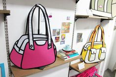Handbags That Cleverly Look Like 2D Cartoons