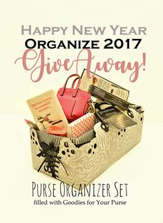 Enter the Purse Organizer Set New Year GIVEAWAY! (drawing Jan 1 2017)