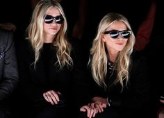 Twin sisters Mary Kate Olsen and Ashley Olsen watch from the front row during the J. Mendel Fall/Winter 2012 collection show during New York Fashion Week, February Mary Kate Olsen, Elizabeth Olsen, Mary Kate Ashley, Alexandra Richards, Sean Lennon, Jessica Hart, Maggie Gyllenhaal, Solange Knowles, Liv Tyler