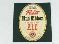 #PabstBlueRibbon #Ale #Beer #IRTP #Label #Milwaukee #WI #PBR #Pabst #bar #breweriana