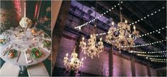 Table Setting and Chandeliers. Photo By Vick Photography | ARIA, Minneapolis, MN.