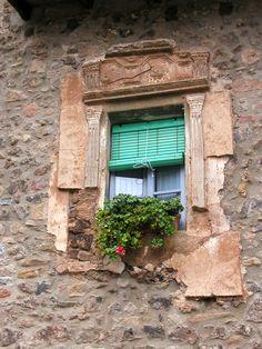 Window in town in Costa Brava region of Spain
