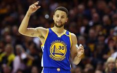 Stephen Curry of the Golden State Warriors reacts in the fourth quarter  against the Cleveland Cavaliers in Game 3 of the 2017 NBA Finals at Quicken. 65f819971