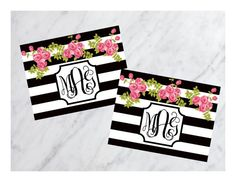 Black and White Classic Monogram Stationary with by AnchorsofGrace