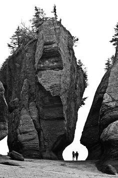 New Brunswick's Hopewell Rocks along the Bay of Fundy