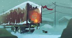 The Long Dark — Art of Trudi Castle Environment Concept Art, Environment Design, The Long Dark, Nuclear Winter, Dark Artwork, Environmental Art, Aesthetic Art, Game Design, Game Art