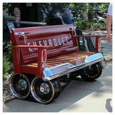 Chevy tailgate bench...Been wantin to make one for a while!!!