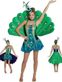 Peacock Adult Costume | Wholesale Animals Halloween Costume for Women
