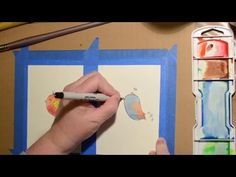 Watercolor Techniques Paint and Pen Birds - YouTube