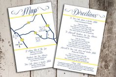 Custom Wedding Map and Direction Invitation by PaperCutCards, $30.00