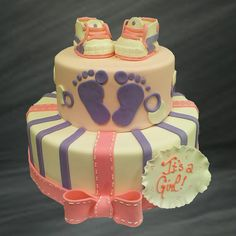 Pitter-Patter Baby Booties Baby Shower Specialty Cake