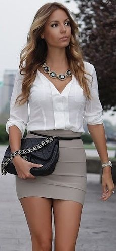 another office outfit. makes me want to work in an office!