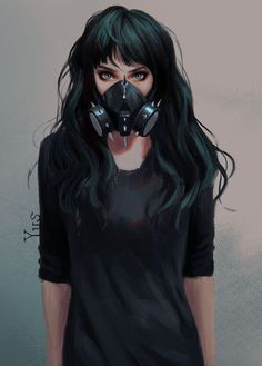 Green Eyes Toxic Anime Girl on Inspirationde Anime Art Green Eyes Toxic Anime Girl on Inspirationde Gas Mask Art, Masks Art, Gas Mask Drawing, Girl Cartoon, Cartoon Art, Anime Art Girl, Anime Girls, Yuumei Art, Character Inspiration