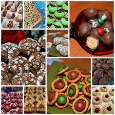 With people assembling goodie trays and attending Cookie Exchanges, this cookie collection is just what you need! All the top recipes in one spot! Christmas Chocolate, Christmas Desserts, Holiday Treats, Christmas Treats, Christmas Baking, Christmas Cookies, Holiday Recipes, Christmas Foods, Holiday Foods