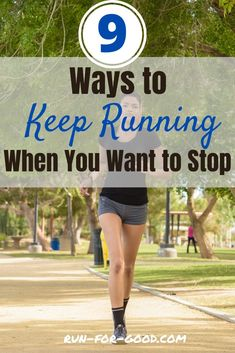 What should you do if you want to stop mid-run? Get effective ways to win the mental battle and keep running. #keeprunning #runningmotivation Running Form, Running Plan, Running Race, Keep Running, Marathon Running, How To Start Running, Running Tips, How To Run Faster, Running Training Programs