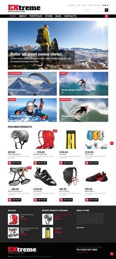 Extreme Sports Shop WooCommerce Theme E-commerce Templates, WooCommerce Themes, Sports, Outdoors & Travel, Sport Templates, Sports Store Templates