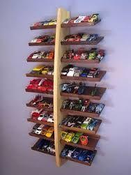 DIY Hot Wheels Storage Shelf Tutorial : perfect for kids playroom or bedroom.