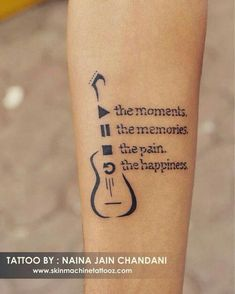 Tattoo for a music lover. Done by : Naina jain chandani Skin Machine Tattoo Stu… Tattoo for a music lover. Done by : Naina jain chandani Skin Machine Tattoo Studio Email for appointments: skinmachineteam www. M Tattoos, Hand Tattoos, Body Art Tattoos, Small Tattoos, Tattoos For Guys, Tattoos For Women, Finger Tattoos, Sleeve Tattoos, Tatoo Musical