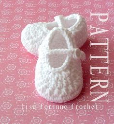 Baby Classic Mary Jane Booties - Infant Soft Shoes - Baby Jane Slippers - Modern Crochet Pattern PDF 28 - Instant Download