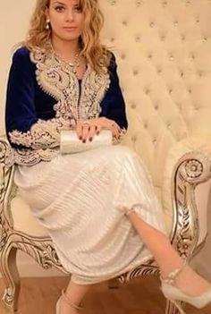 karakou algérois .Algérie Most Beautiful Dresses, Beautiful Outfits, Moroccan Caftan, African Dress, Bridal Dresses, Prom Dresses, Evening Dresses, Kaftan, Afghan Dresses
