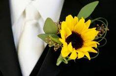 Sunflower boutonnière.