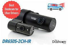 What is the best dashcam for Uber and Lyft rideshare drivers? We think it's the BlackVue DR650S-2CH-IR front and interior dashcam // The Dashcam Store Blog
