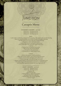 1000 images about wedding ideas on pinterest beach for French canape menu