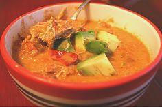Low Carb Diner: Tortilla-less Chicken Tortilla Soup Paleo Recipes, Slow Cooker Recipes, Crockpot Recipes, Soup Recipes, Cooking Recipes, Easy Cooking, Whole 30 Brasil, Tortilla Soup, Enchilada Soup