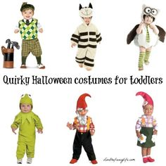 Top SIX quirky and fun toddler Halloween costume ideas.