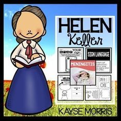 Helen Keller was one of the most influential people of her time, and your students will be enthralled by her incredible life story! This mini-unit has tons of hands-on activities that will engage your students in learning more about Helen Keller's life and mission. Click through to get more details about what's included!