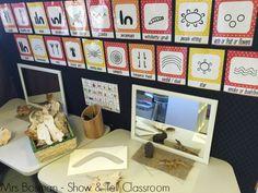 Show and Tell Classroom - Writing corner - image credit Francis Bosman